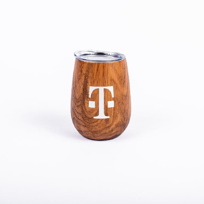 12 Ounce Wood Grain Tumbler