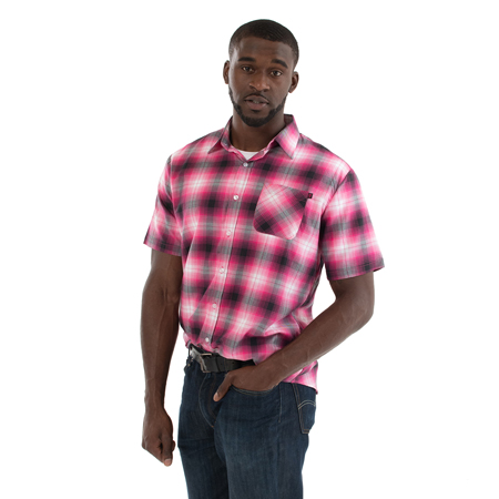 Ombre Plaid Shirt