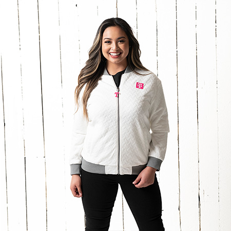 Women's Quilted Bomber Jacket